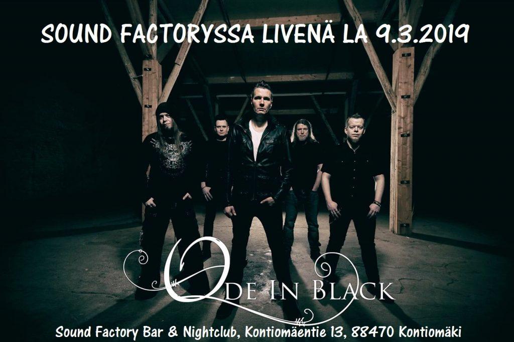 Ode in Black livenä Sound Factoryssa lauantaina 9.3.2019