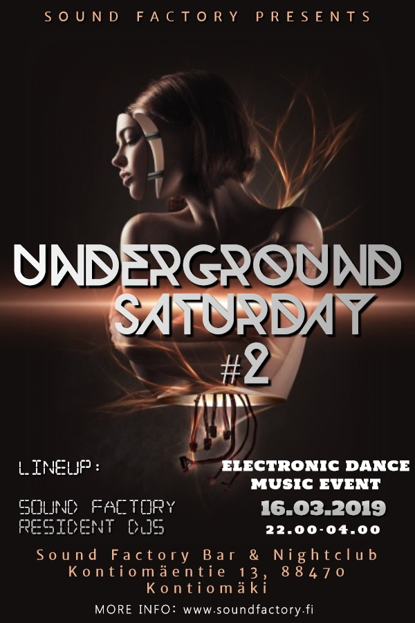 Underground Saturday #2 lauantaina 16.3.2019
