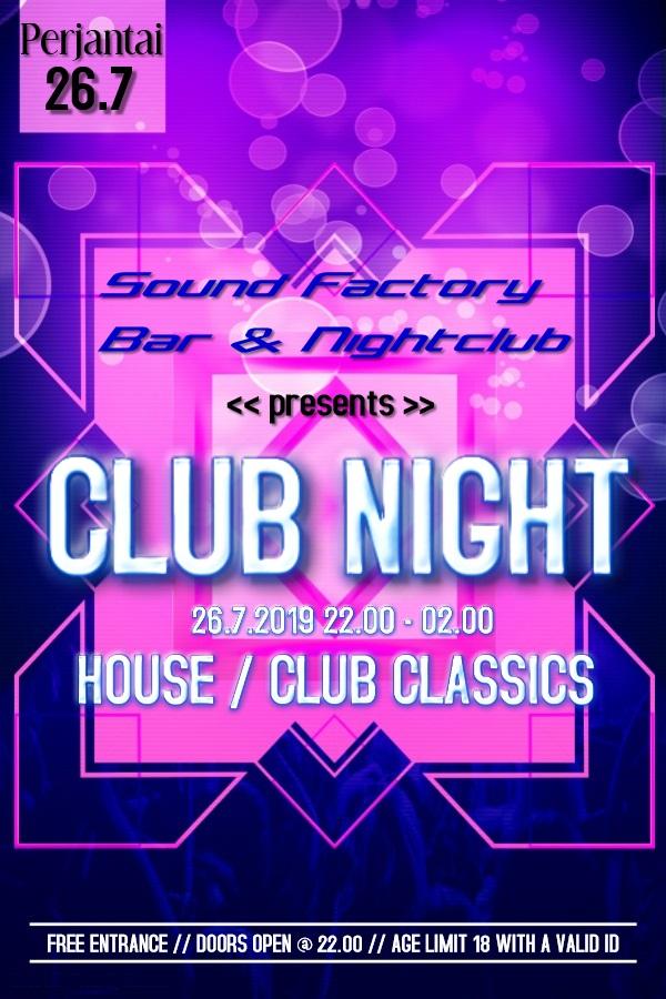 Club Night 26.7.2019