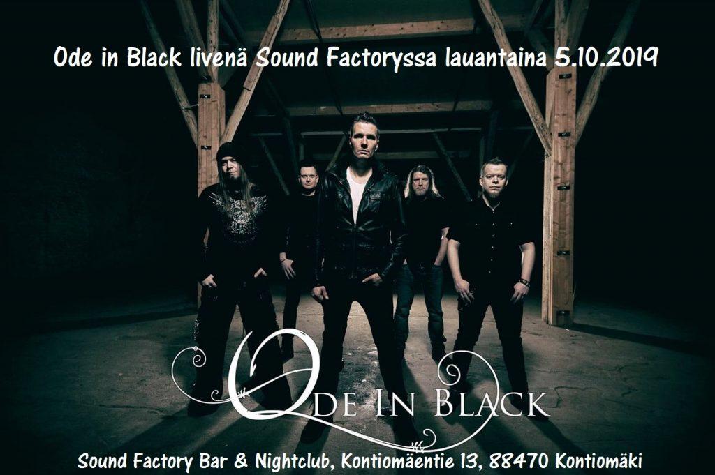 Ode in Black livenä Sound Factoryssa 5.10.2019