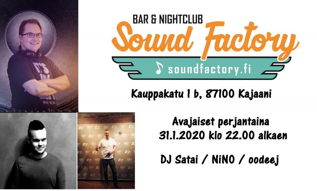 Sound Factoryn uuden toimipaikan avajaiset 31.1.2020 klo 22.00 alkaen.