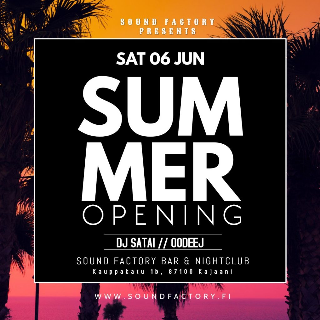 Summer Opening 06.06.2020